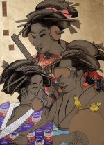 Chocolate Courtesans of the Floating World (after Utamaro) 2007 by Benedict Ernst
